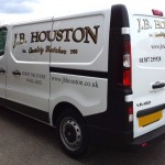 The new van for the local butcher | A business card on wheels