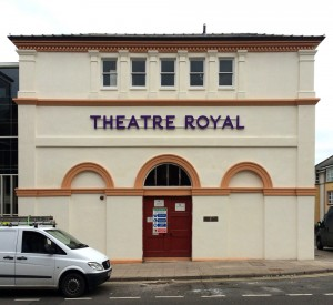 Illuminated signage for Theatre Royal in Dumfries