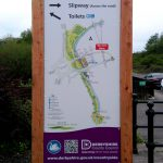 Tapton Lock Visitor Centre - Derbyshire. double sided, 3 meter high