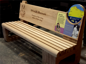 Oak bench with Multiguard panels