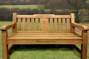 Our memorial benches: a beautiful tribute for the loved ones being fondly remembered