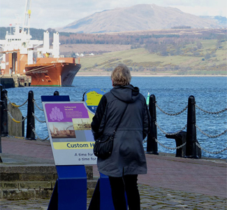 Steel lectern | Heritage Inverclyde Coastal Trail