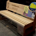 Inverclyde Coastal Trail, Oak bench with Multiguard® interpretive panels and routed elements