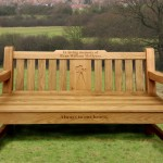 Memorial Bench with bespoke engraving