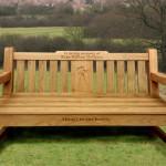 Memorial Bench with bespoke engraving