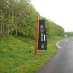 Bespoke design directional signage - Brocholes Project