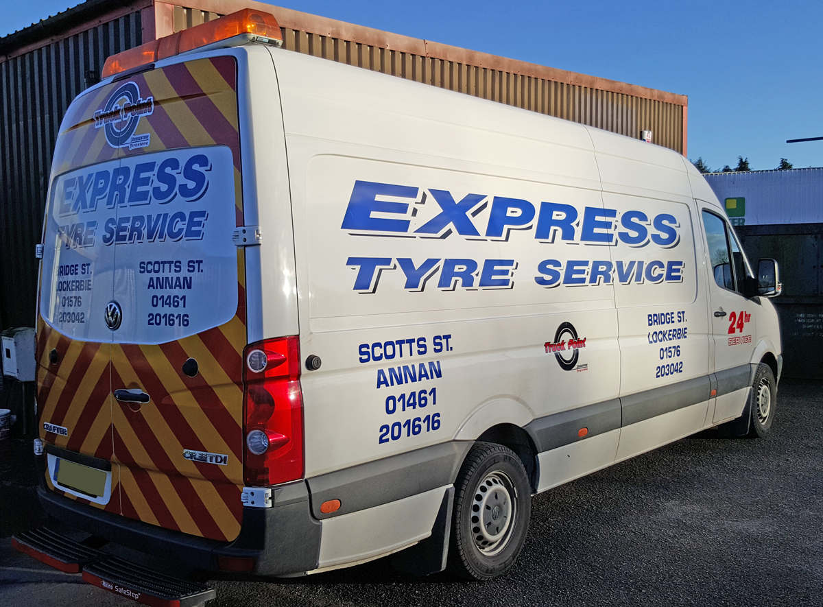A business card on wheels | Car Graphics by Border Signs
