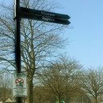 Stirling Council - Steel fingerpost