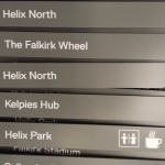 Metal directional fingers for fingerpost in production - Helix Park Falkirk (Kelpies)