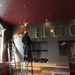 men at work for Hugo's Restaurant - Dumfries - Indoor Signage