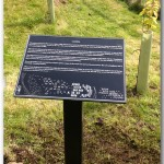 Zinc-Etched Interpretive panel - Wanlockhead