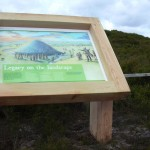 Timber lectern with framed Multiguard® interpretive panel