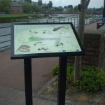 Whitesands Dumfries - Multiguard® interpretive panel in powder coated steel frame