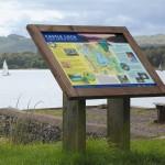 Lectern Castle Loch - Oak lectern with framed interpretive panel