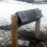 Special designed rotating lectern with Multiguard® interpretive panels for Dark Skies project