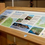 Multiguard® interpretive panel in timber frame