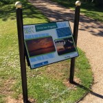 Bespoke design steel lectern with Multiguard® interpretive panel - Silloth Green