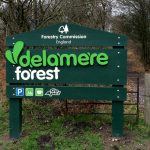 Timber Signage - Forestry Commission - Delamere forest