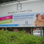 Large outdoor signage for Bannatyne's Health Club - with changeable panel
