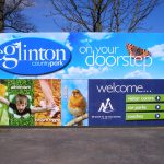 Large eye-catching signage - North Ayrshire - Eglinton Country Park