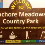 Large routed timber welcome sign - Lochore Meadows Country Park