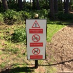 Bespoke warning signage for Silloth Green - Cumbria