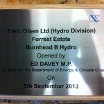 Metal Plaque on timber backing