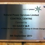 Metal Plaque on timber backing - Natural Power