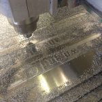 CNC Router - making directional fingers in Aluminium for fingerposts