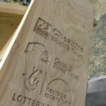 Cheshire Wildlife Trust - Routed Timber