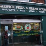 Shop signage Warwick Pizza and Kebab