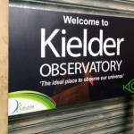 Welcome sign for Kielder Observatory - part of the Dark Sky Project