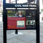Steel upright for National Civil War Trail, using Augmented Reality