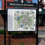 steel welcome sign - Ormskirk