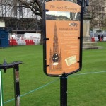 Double sided info board in powder coated steel frame - City of Edinburgh Council