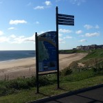 Steel upright structure with Multiguard® panel and fingerpost - Tynemouth