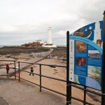 Steel upright structure with Multiguard® panel - North Tyneside Heritage trail