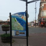 Steel upright structure with Multiguard® panel, combined with fingerpost - Whitley Bay