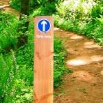 Timber waymarker