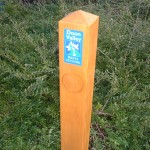 Standard timber waymarker
