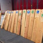 Timber waymarkers