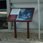 Steel lectern with Multiguard® interpretive panel