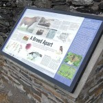 Multiguard® interpretive panel on stone plinth