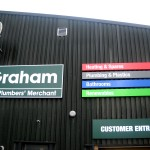 Border Signs & Graphics reffitted all the signage at 15 branches in Scotland of Graham the Plumbers merchant