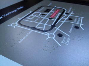 Multiguard® panel with Braille elements