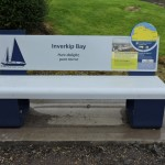 Steel bench with Multiguard® panels and lasercut graphics