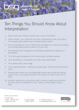BSG, Ten Things You Should Know About Interpretation