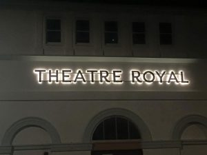 Illuminated signage for Theatre Royal Dumfries