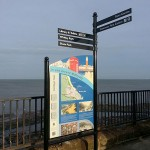 Whitley Bay Interpretation with Fingerpost