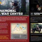 Interpretive panel, using Augmented Reality, trigger image down-right. The national Civil War Centre
